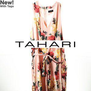 Tahari/ASL Plus Sz Georgette Wrap Waist Dress Sz24